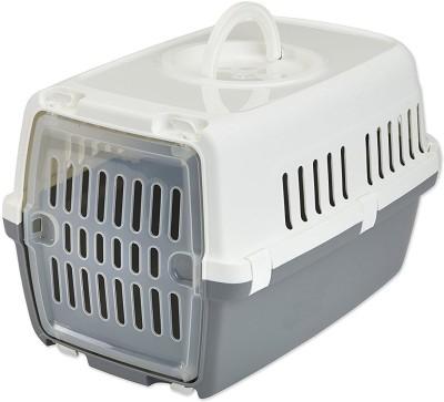 Savic Zephos Grey Basket Pet Carrier(Suitable For Dog, Cat)