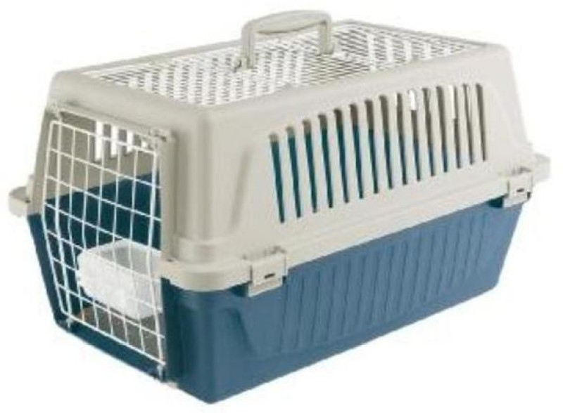 Ferplast Atlas 10 Open Top Small White, Blue Airline Pet Carrier(Suitable For Cat, Dog)