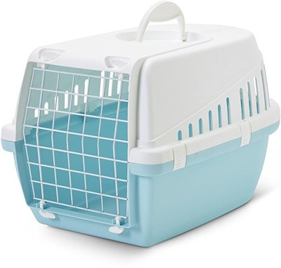 Savic Trotter Retro Blue Basket Pet Carrier(Suitable For Dog, Cat)