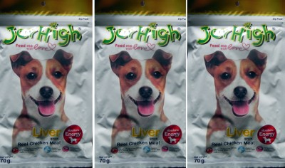 Jerhigh Liver Chicken Dog Chew(70 g, Pack of 3)