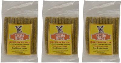 Excite Bites Chicken Flavor Munchy Sticks - 100 g Dog Chews (Pack of 3) Dog Chew(300 g, Pack of 3)