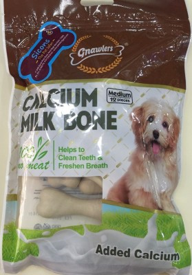 Gnawlers Calcium Milk Bone Dog Chew(288 g, Pack of 1)