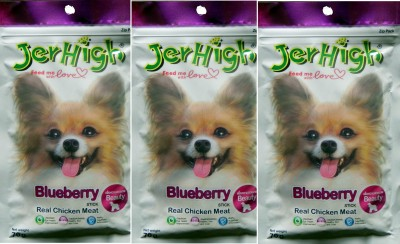 Jerhigh Blueberry Chicken Dog Chew(70 g, Pack of 3)