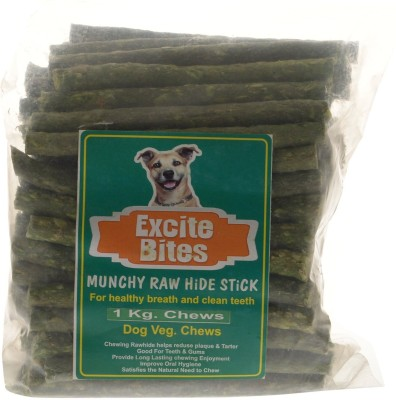 Excite Bites Natural Flavor Munchy Sticks - 1 kg Dog Chews (Pack of 6) Dog Chew(6 kg, Pack of 6)