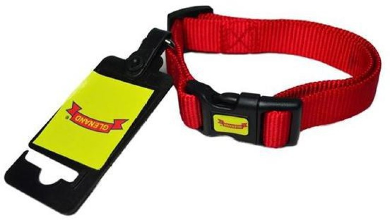 Glenand Clip Midium Plain Dog Collar Charm(Red)