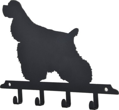 Regal Icons cocker spaniel key holder Plain Dog Collar Charm