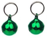 Pawzone Bell Dog Collar Charm (Green, Ro...
