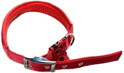 TommyChew Plain Dog Collar Charm(Red, Round)