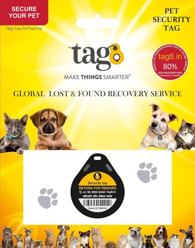 Tag8 Bell Dog & Cat Collar Charm(Black, Other)