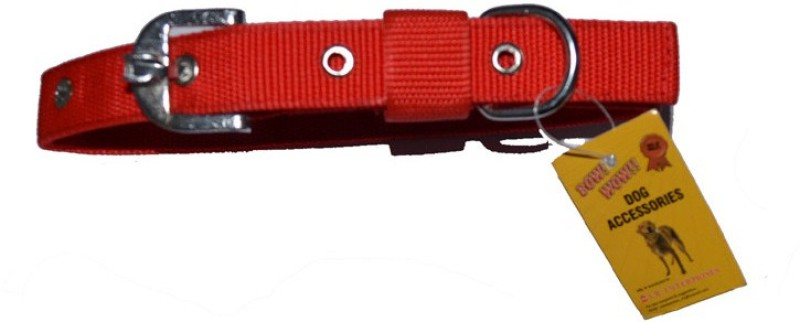 Bow! Wow !! Plain Dog Collar Charm(Red, Square)