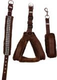 Petshop7 Nylon Brown 1.25 inch Fur harne...