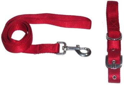 Pet Club51 Pet Club51 Dog Collar & Leash(Medium, Red)