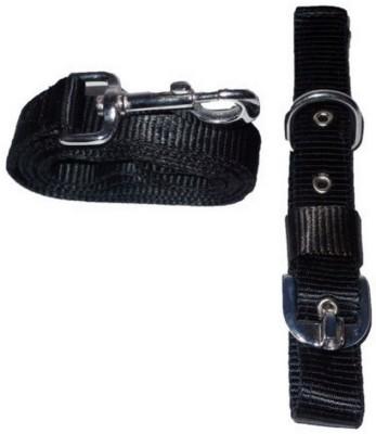 Pet Club51 Pet Club51 Dog Collar & Leash(Medium, Black)