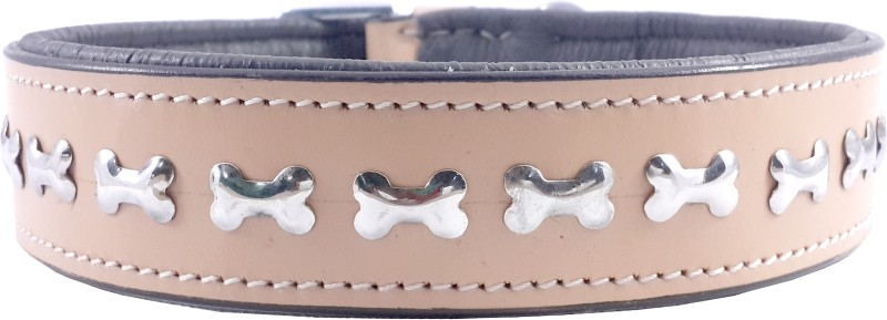 Bone Lover ComFort Line Dog Everyday Collar(55 - 76 cm, Bisque)