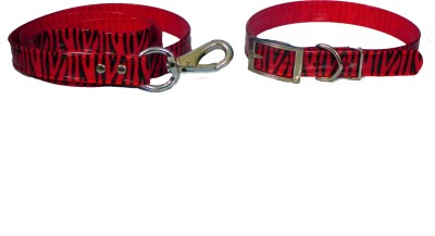 Smarty Pet Red Tiger Print Dog Collar & Leash