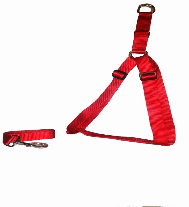 Pets Planet Dog Standard Harness(Medium, Red)