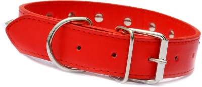 XPO Red Spiked Leather Dog Everyday Collar