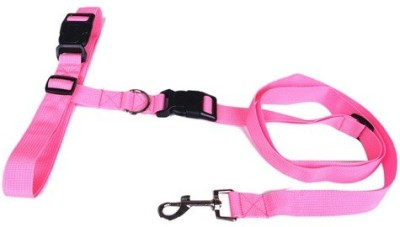 Futaba Running Pet Hauling Cable Collars Traction Belt - Pink Dog Collar & Chain
