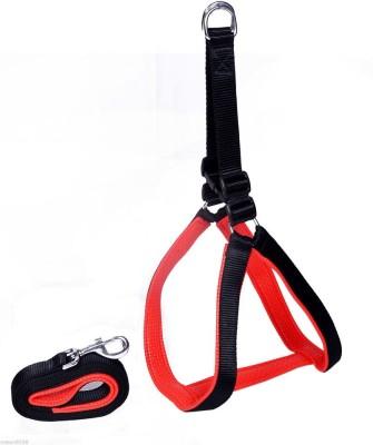 Petsplanet Large Size Black Dog Harness & Leash