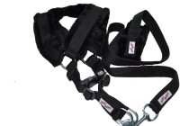 Bow! Wow !! Dog Harness & Leash(Large, Black)
