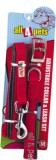 All4pets Dog Collar & Leash (Large, Red)