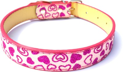 XPO Pink Sparkly Leather Dog Everyday Collar