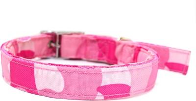 XPO Pink Nylon Printed Medium Dog Everyday Collar