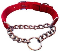 Smarty Pet Control Collar Dog Choke Chain Collar(Large, Red)