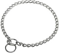 Kristal Jumbo Dog Dog Collar & Chain(Large, Silver)
