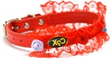 XPO Puppy Red Floral Rose Decor Leather ...