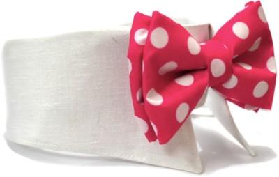 That Dog In Tuxedo The White Wedding Dog Bow Tie Polka dots -M Dog Show Collar