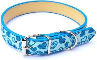 XPO Blue Sparkly Leather Dog Everyday Collar