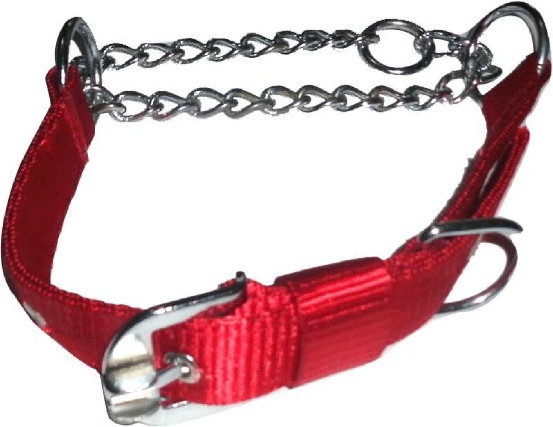 Suraj Chains Dog Collar & Leash(Medium, Red)