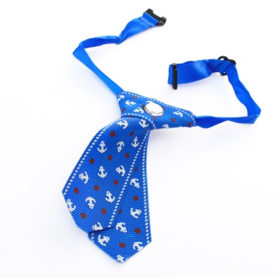 XPO Blue Fashionable Tie Dog Show Collar