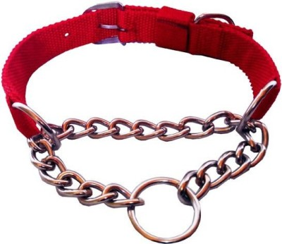 Bow! Wow !! Dog Choke Chain Collar(Small, Red)