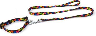 XPO Colorful Smiley Faces Dog Collar & Leash