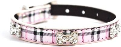 That Dog In Tuxedo The Furberry Blinger- Pink Dog Everyday Collar