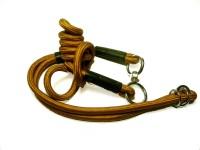 Agnpetspot. 360 adjustable nylone show leash Dog Collar & Leash(Extra Large, orange)