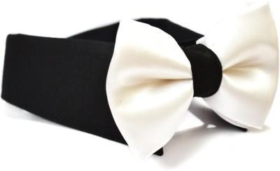 That Dog In Tuxedo The Tux BowTie White - M Dog Show Collar