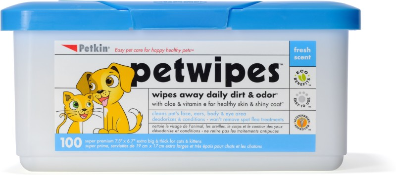 Petkin PM-5350 Pet Ear Eye Wipes(Pack of 100)