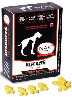 Nappets India Chicken Flavour Biscuits Chicken Dog Food