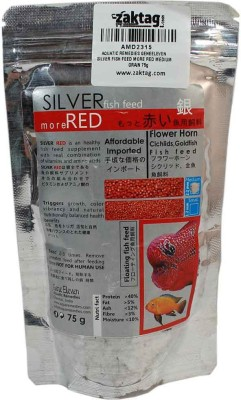AQUATIC REMEDIES GENEELEVEN SILVER FISH FEED MORE RED MEDIUM GRAIN 75g NA Fish Food