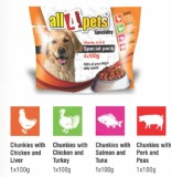 All4pets Chunks in gravy Chicken, Liver,...