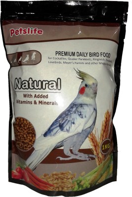 Taiyo Petslife Natural (M) 1kg Nuts Bird Food(1000 g Pack of 1)