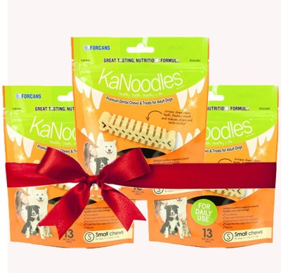 Forcans Kanoodles Premium Dental Chew 30z S(Pack of 3) Mint Dog Food