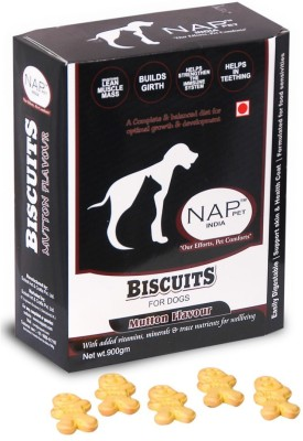 Nappets India Mutton Flavour Biscuits Mutton Dog Food