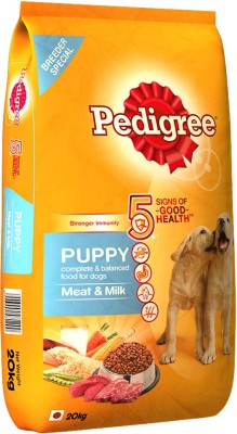 Pedigree Puppy Meat, Milk Dog Food(20 kg Pack of 1)