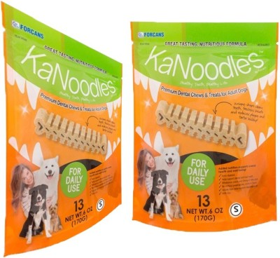 Forcans Kanoodles Premium Dental Chew 60z S(Pack of 2) Mint Dog Food