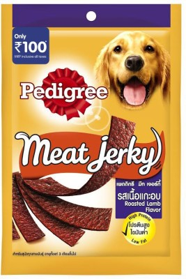 Pedigree Meat Jerky Rosted Lamb Flavor Lamb Dog Food(0.96 kg Pack of 12)