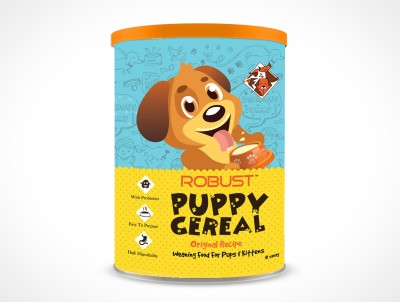 Robust Puppy Cereal : Original Recipe Vanilla Dog & Cat Food(500 g Pack of 1)